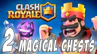 Открытие 2 магических сундуков 2 Magical Chest Epic Opening Clash Royale 3