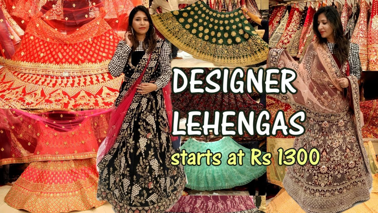 f27f804c1b11 BOLLYWOOD DESIGNER LEHENGA SHOPPING IN CHANDNI CHOWK | BRIDAL Lehenga & Non  Bridal Lehengas 2019 – Shopping time