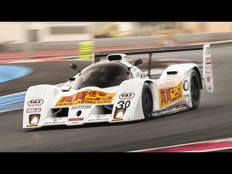 1992 Lola T92/10 Group C: Warm Up & Judd V10 Engine Sound On Track
