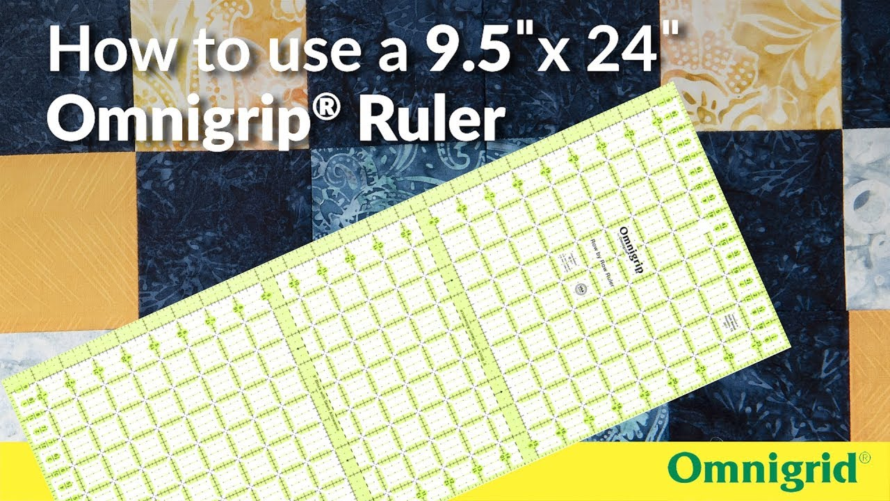 Dritz Omnigrip by Omnigrid Non-Slip Ruler 5 Square Limited Edition