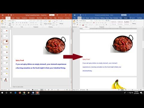 How Convert/Save PowerPoint Slide To Word Document (No Software)
