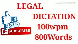 legal dictation exercise 48, 100 w p m for high courts judiciary ssc