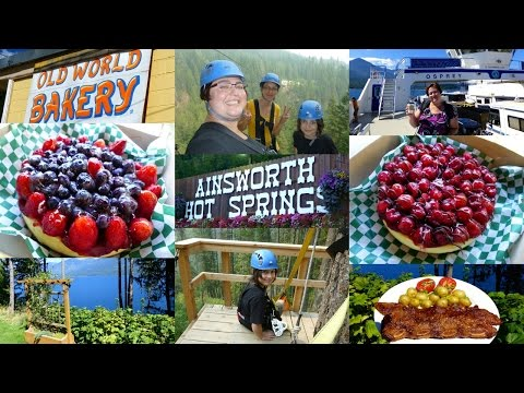 Ainsworth Hot Springs And Kokanee Mountain Zipline | By Victoria And Her Gay Family!