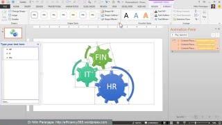 Powerpoint Engins de l'Animation: Comment Créer un Engrenage qui tourne SmartArt