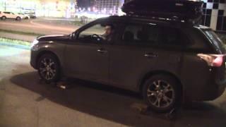 Mitsubishi Outlander 3 - тест полного привода на роликовом стенде