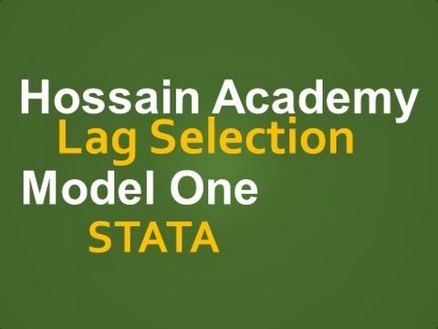 Lag selection. Model One. STATA