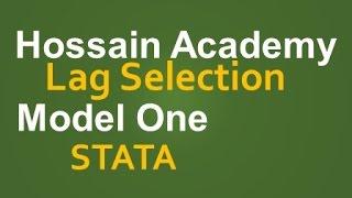 lag selection model one stata