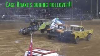 Rear-end Breakage!!  Iron County Demo Derby 2016 TRUCK HEAT