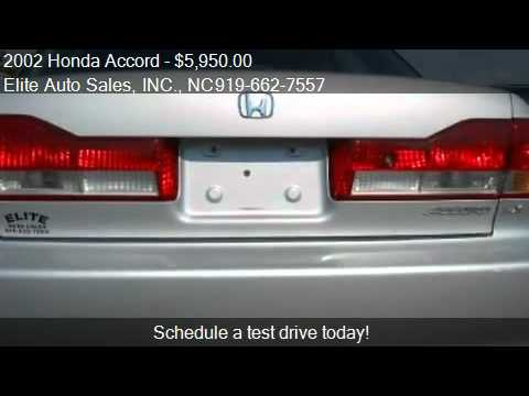 2002 Honda Accord LX Carfax 1 Owner - for sale in Raleigh, N