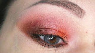 Сиреневый оранжевый розовый смоки ай Пошаговый урок макияжа