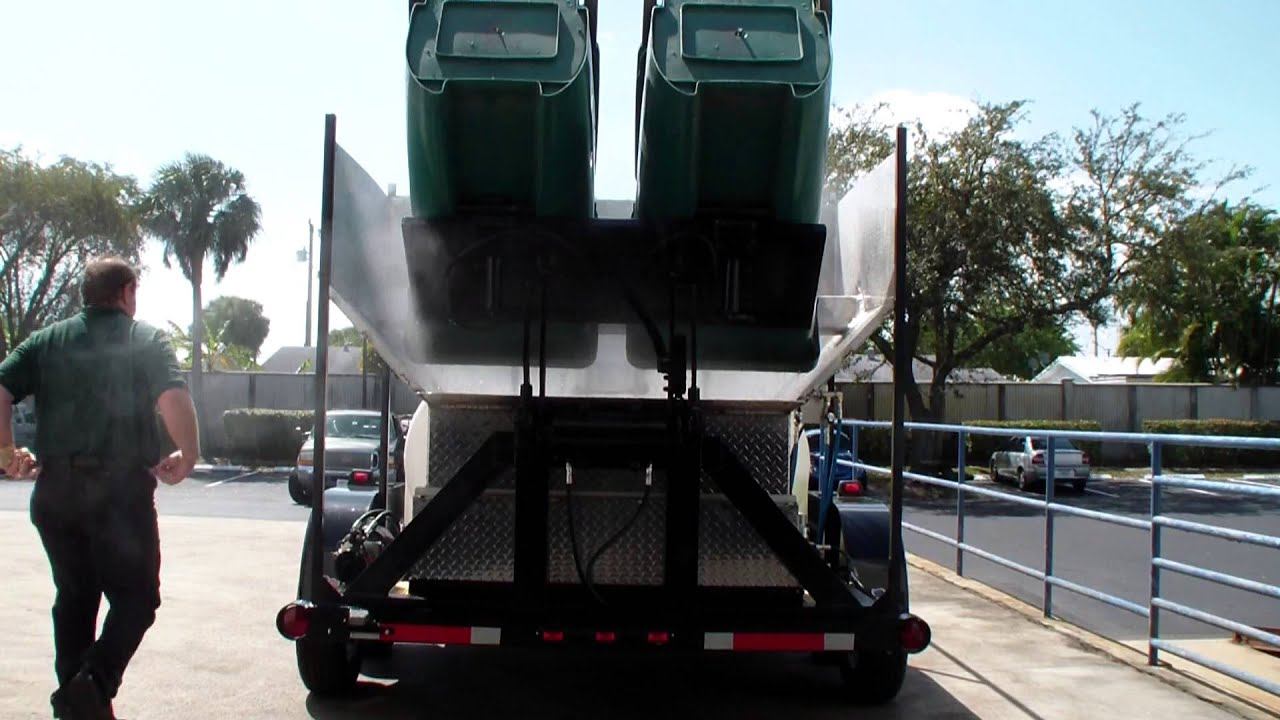 Wheelie Bin Cleaning >> Trash Bin Cleaner, Wheelie Bin Cleaners for sale 800-666-1992 Contact Dan Swede - YouTube