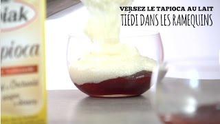 Recette crème dessert vanille sur lit de fraises - TIPIAK