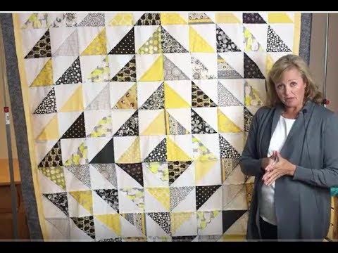 Scrap Quilt Tutorial Honeycomb Quilt With Half Square Triangles