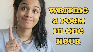 Writing A Spoken Word Poem In One Hour | TAZ TRIES