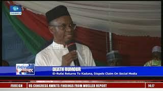 Death Rumour: El-Rufai Returns To Kaduna, Dispels Claim On Social Media