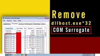 Remove dllhost.exe *32 COM Surrogate high memory eating virus [ 2 step removing guide ]