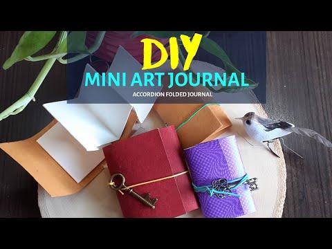DIY Mini Watercolor Art Journal | Accordion Fold | No Stitching