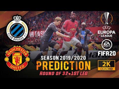 CLUB BRUGGE v MAN UNITED | FIFA 20 Predicts: Europa Legue 2019/20 ● Round of 32 1st Leg | #BRUMUN