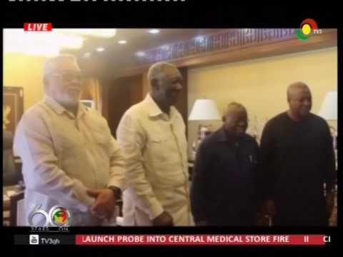 Prez Akufo-Addo meets 3 former Presidents - 18/4/2017