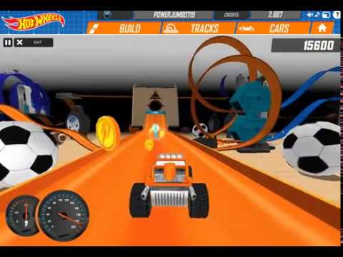 HOT WHEELS TRACK BUILDER GAME Drift King / Dune it Up Sets Gameplay Video