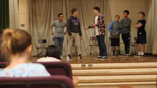 John Park and friends from Sherman Oaks CES Drama Dept. at Scene Ni...