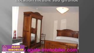 LOCATION MAISON MEUBLE 4 CHAMBRES ref8722 33730 SUD GIRONDE