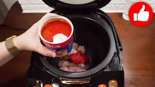 Заливаю курицу томатным соусом и готовлю в мультиварке Дети будут просить готовить каждый день