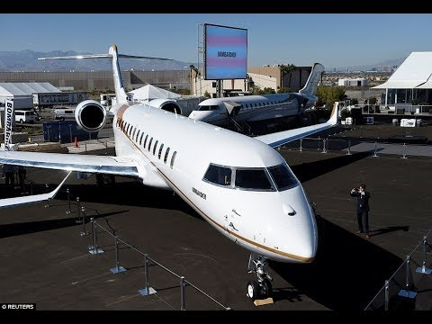 Inside the world's largest private jet: Bombardier's new £55 m aircraft is set to hit the skies