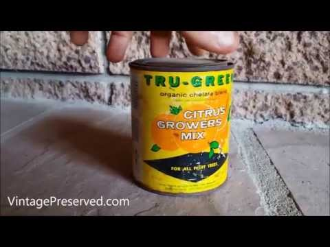 Vintage Tru Green Citrus Growers Mix Can