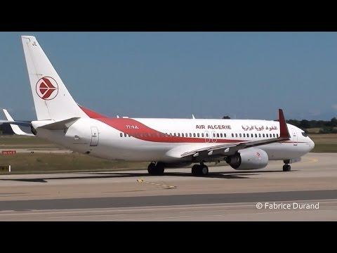 Air Algérie 737-800 take off 36L at Lyon St Exupéry [LYS/LFLL]
