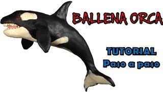 Como hacer una ballena orca de plastilina / How to make an orca whale with clay