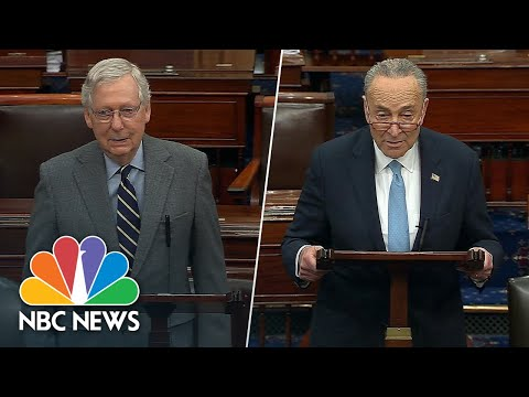 McConnell, Schumer Spar On Coronavirus Relief Bill | NBC News NOW