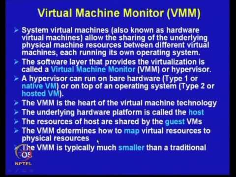 Mod-22 Lec-31 Virtual Machines