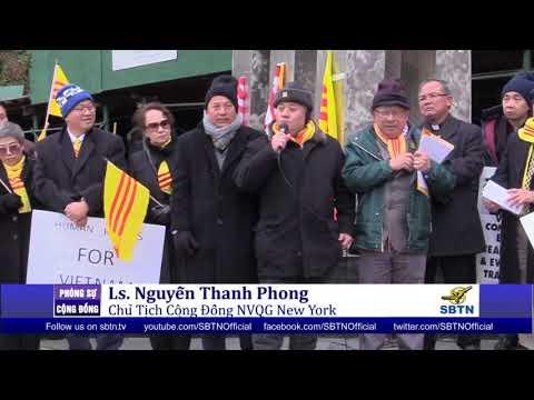 PHÓNG SỰ CỘNG ĐỒNG: Biểu tình tố cáo những vi phạm nhân quyền của CSVN ở New York