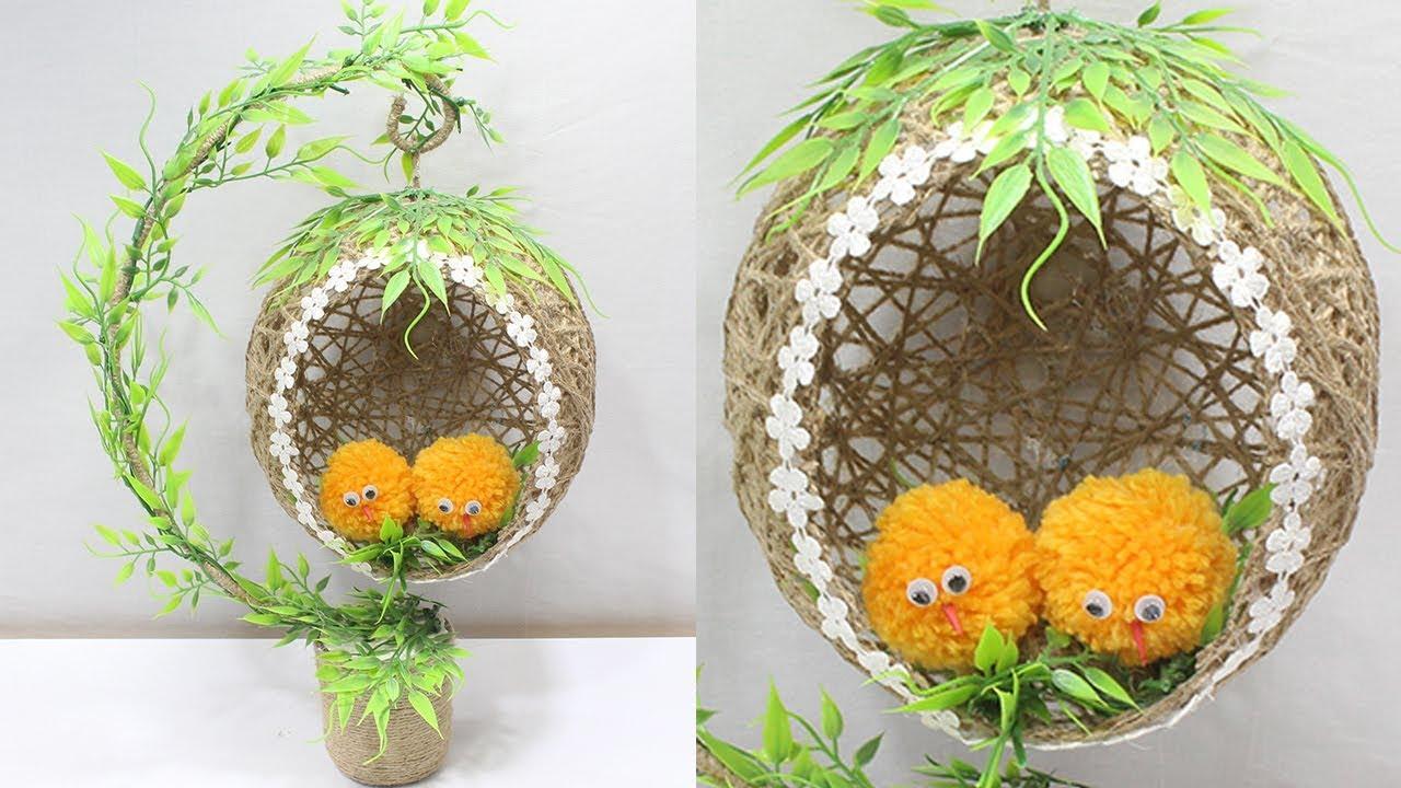 Jute Craft Idea Home Decorating Ideas Handmade Easy Youtube