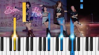 BLACKPINK -  Lovesick Girls - Piano Tutorial видео