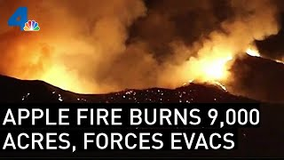 Apple Fire in Cherry Valley Forces Evacuations, Burns 900 Acres | NBCLA