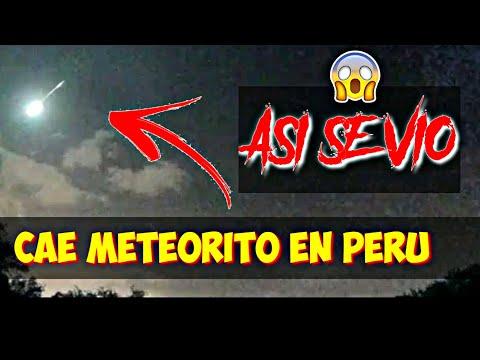 METEORITO CAE EN PERU   REC GTO