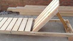 Costruire Sdraio In Legno.Costruire Sdraio Con Pallet Youtube