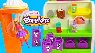 Shopkins Season 2 Two Fruit Chute Slide Playset 5 Pack Mystery Surprise Blind Bag Barbie Mini Doll