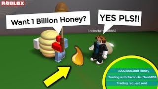 this kid thought i was Onett and wanted 1 billion honey, so... (roblox bee swarm simulator trolling)