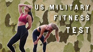 FITNESS MODELS TRY US MILITARY FITNESS TEST | NO TRAINING!