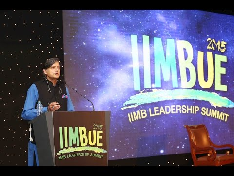 Shashi Tharoor on India in Today's Networked World at IIMBUE 2015
