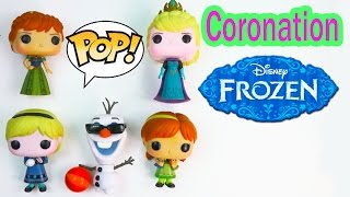 Queen Elsa Disney Frozen POP Vinyl Princess Anna Coronation Kids Olaf Snowman Video Unboxing