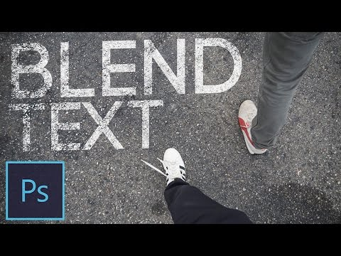 How to Blend Text Into a Photo In Photoshop CC Tutorial (Blend If Tool & Perspective Warp)