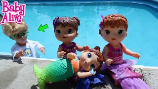 BABY ALIVE Mermaids Go Swimming In The Pool