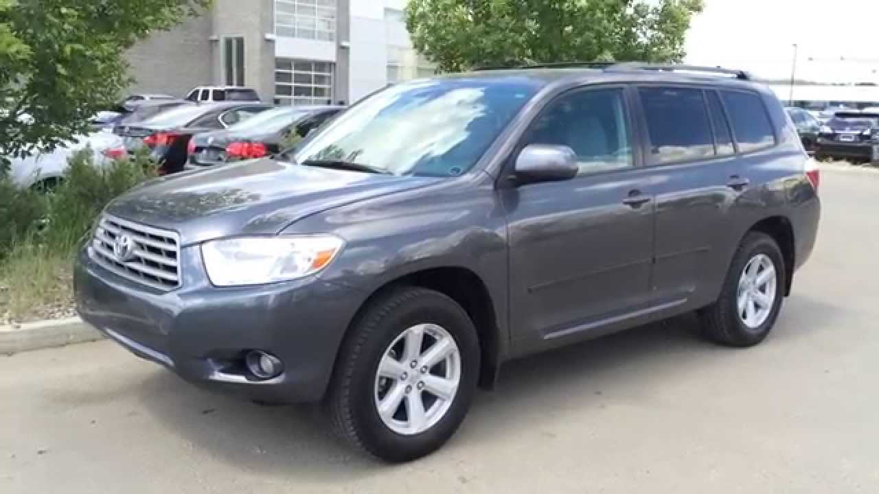 Pre Owned Grey 2010 Toyota Highlander 4wd 4dr V6 Se Fort Mcmurray Ab