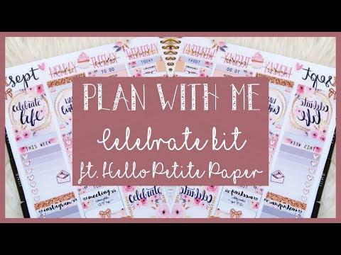 PWM || Vertical || Celebrate kit ft. Hello Petite Paper // Plan with Juli