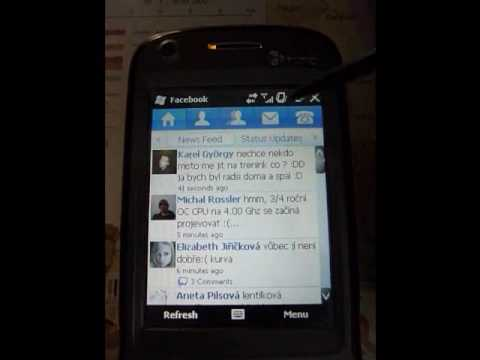 Facebook app on Kaiser (HTC TyTN II)