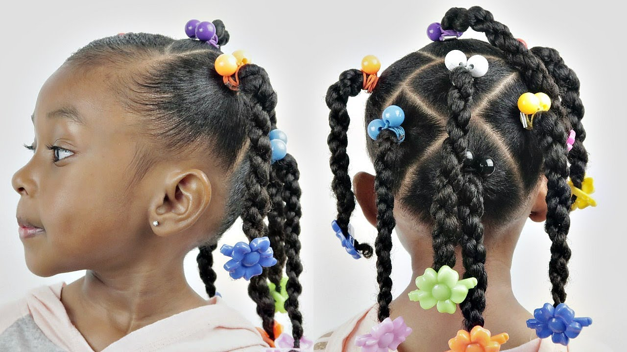 Kids Natural Hairstyle - YouTube